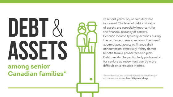 Debt to asset ratio seniors canada infographic