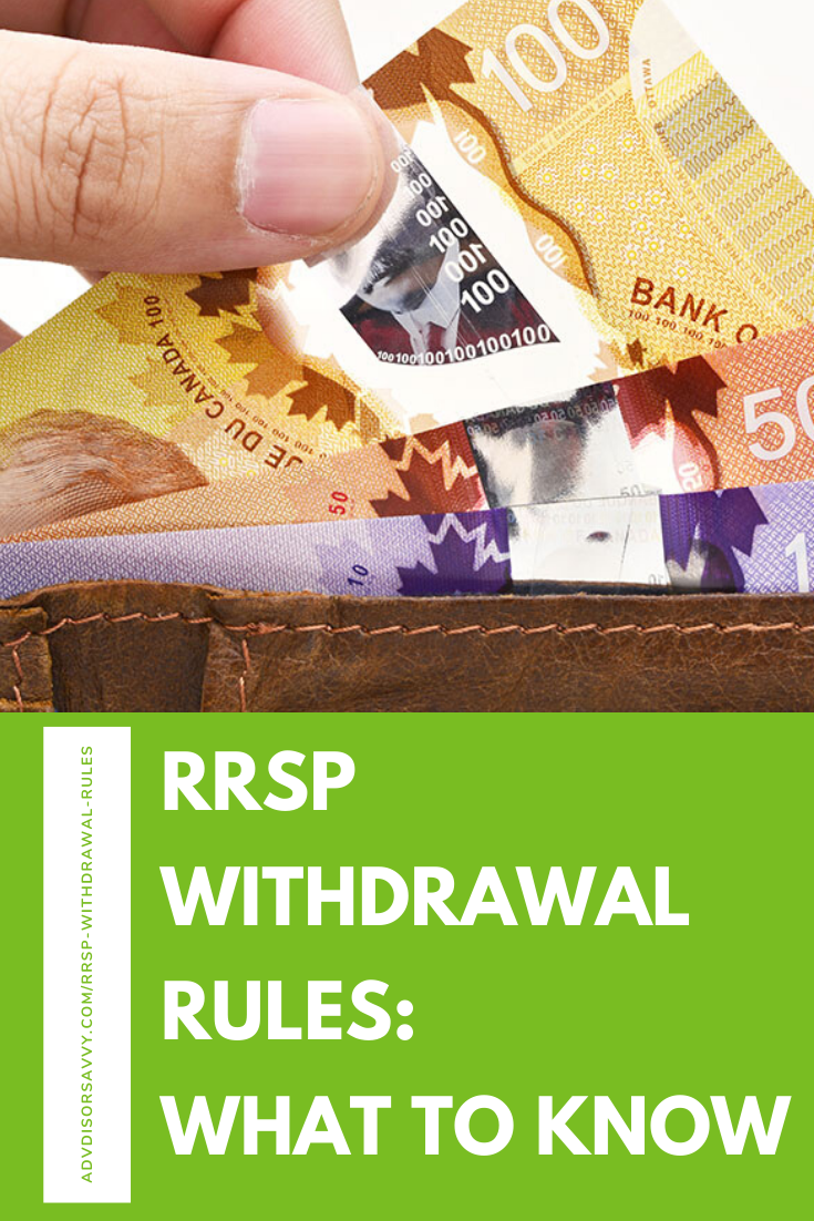 RRSP Withdrawal Rules in Canada