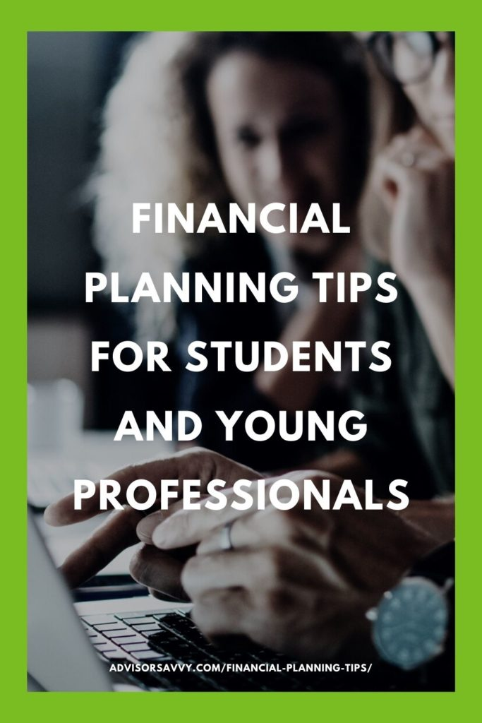 Financial Planning Tips Student Young Professionals